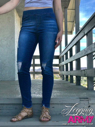 Premium Jeggings- Ametrine