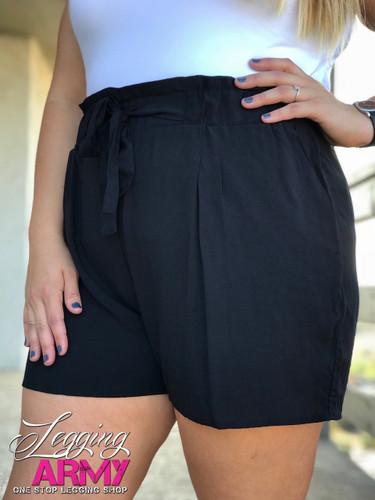 Plus Size Shorts- Black
