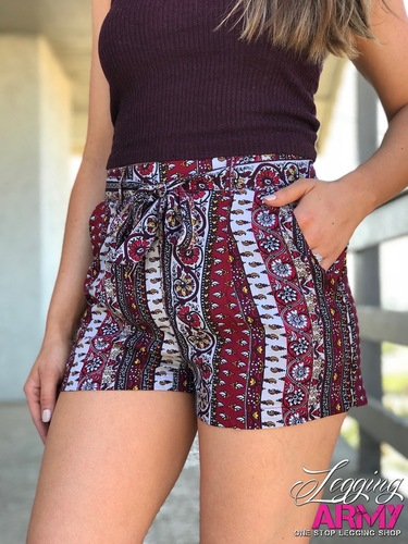 Shorts- Burgundy Bliss