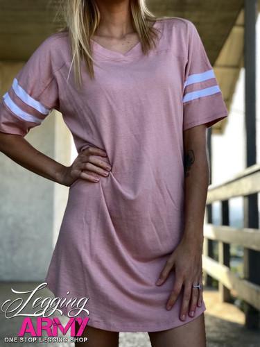 Jersey Tee Dress- Blush
