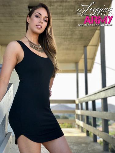 Tank Top Dress- Black