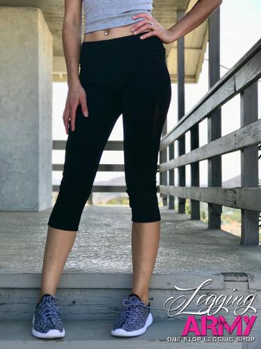 Capri Active Wear- Solid Black