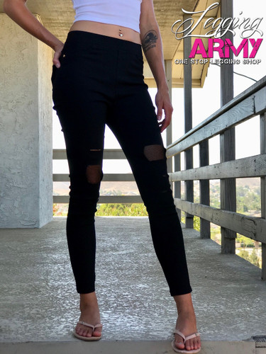 Premium Jeggings- Black Opal