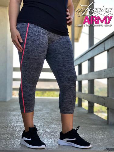 Capri Plus Size Active Wear- Frisky