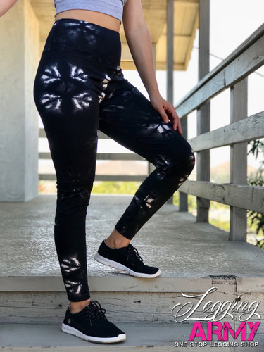 Active Wear- Tye Dye: Black and White