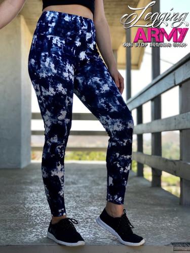 Active Wear- Tye Dye: Navy and White