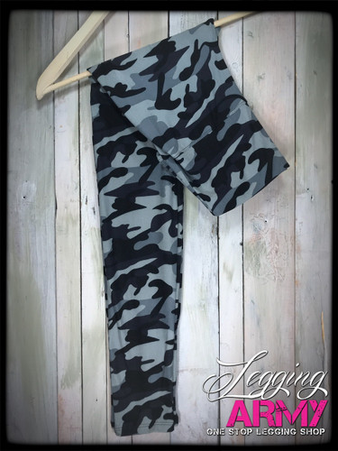 "Yoga 5"" Waistband- (One Size): Grey Camo"