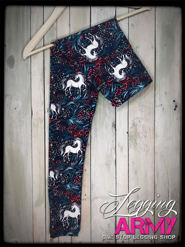 "Yoga 5"" Waistband- (Plus Size): The Last Unicorn"