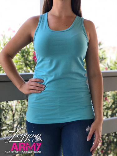 Racerback Tank Top- Ash Mint