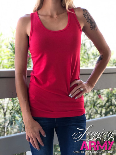 Racerback Tank Top- Ruby