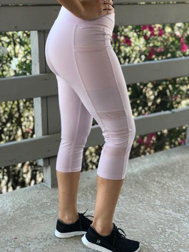 Capri Active Wear- Bubbly: Light Pink