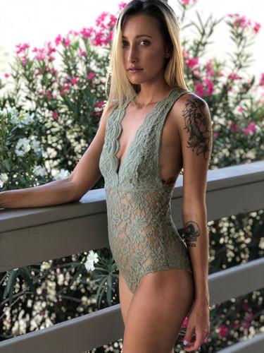 Lace Bodysuit- Olive