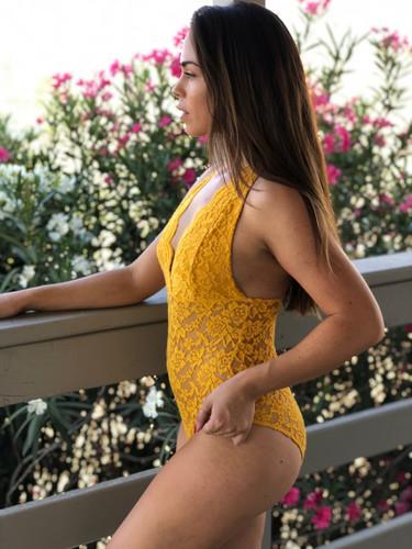 Lace Bodysuit- Mustard