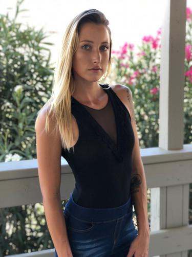 Lace Patch Bodysuit- Black