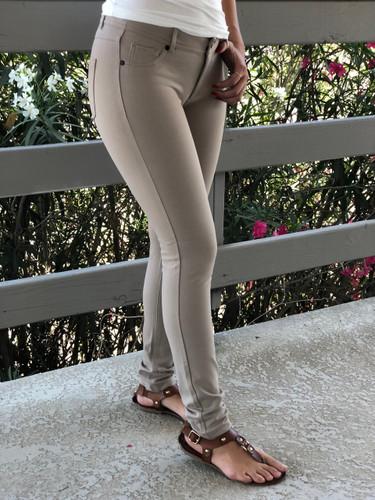 Plus Size 5 Pocket Pants- Khaki