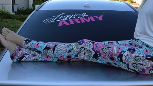 Legging Army Vinyl Decals - 36""