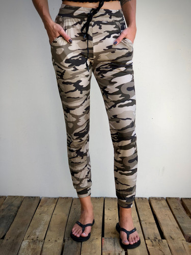Jogger- Green And Yellow Camo