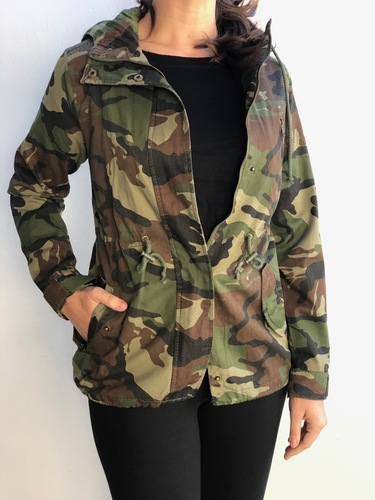 Hooded Camouflage Anorak Jacket