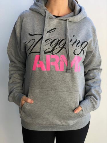 Legging Army Official Sweatshirt- Carbon Grey & Pink