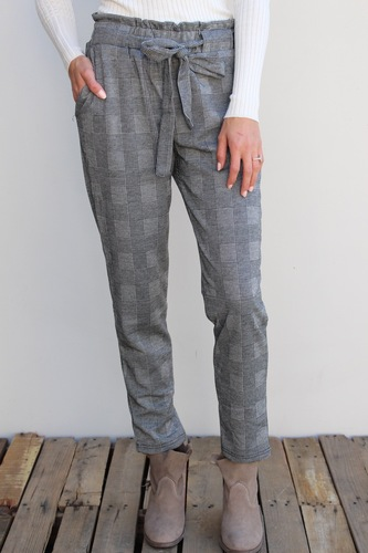 Pants- Black And Grey Plaid