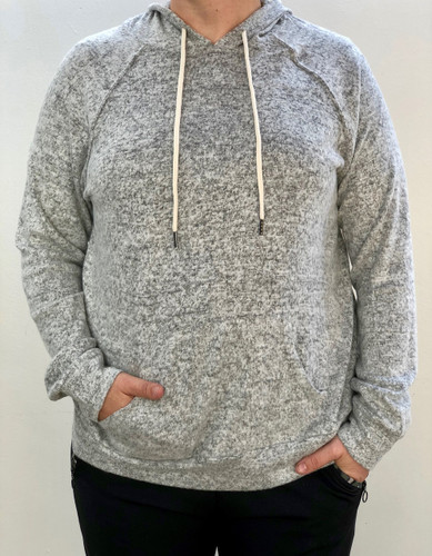 Plus Size Knit Pullover- Heather Grey
