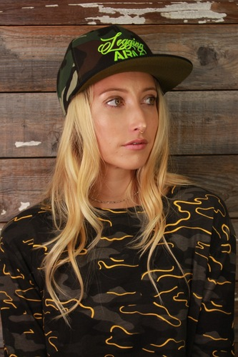 Official Legging Army Hat- Camo And Green