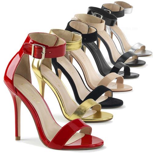 Amuse-10, 5 Inch Stiletto Heel Closed Back Sandal