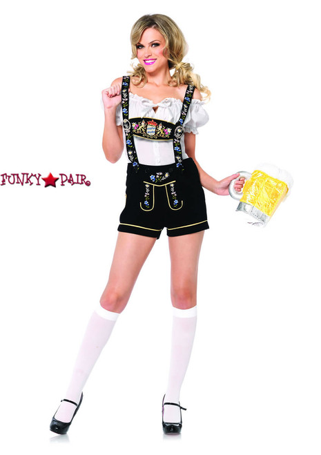 Leg Avenue LA-85221 Edelweiss Lederhosen Costume ...  sc 1 st  FunkyPair & Beer Girl Costumes - Oktoberfest Costumes - Gretchen Costumes