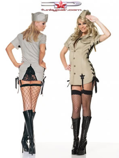 ... Pin up army girl costume (8066)  sc 1 st  FunkyPair & Pin up army girl costume - FunkyPair