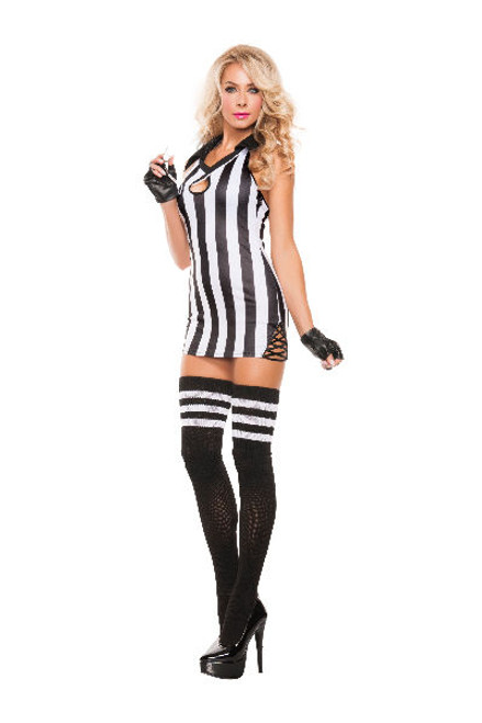 Starline Costumes   S5117 Sexy Halter Referee ...  sc 1 st  FunkyPair & referee costumes - cheerleader costume - referee costume