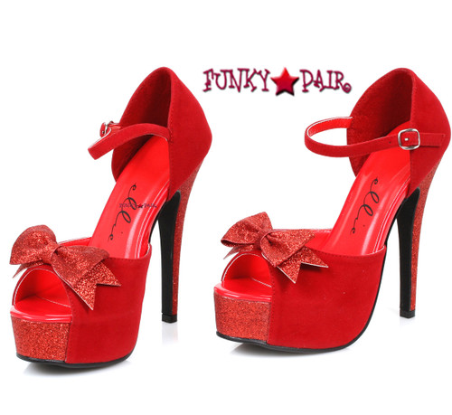 519-Story, 5 Inch Red Sandal ,COSTUME SHOES