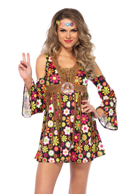 Sexy Costumes Hippie Girl La85610 Starflower 60s Dancer Costume