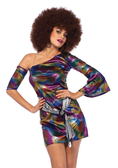 Sexy Costumes Hippie Girl La85588 Disco Doll 60 Dancer Outfits