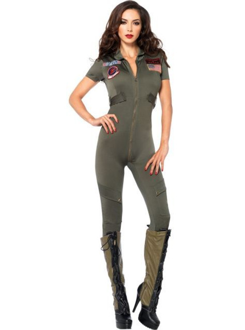 Leg Avenue | LA-TG85267 Top Gun Flight Suit Costume  sc 1 st  FunkyPair & Sexy Army Costume - Army Girl Costumes - Sexy Navy Costume