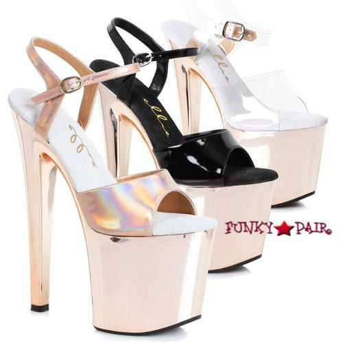 821-Bria, 8 Inch Rose Gold Platform Sandal