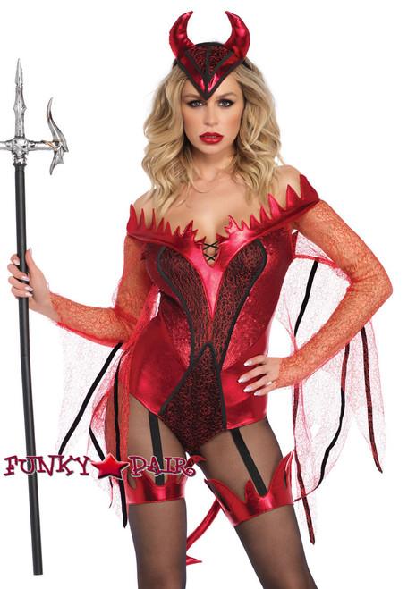 Dazzling Red Devil Costume   Leg Avenue LA-86733