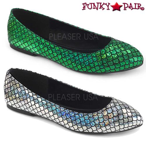 Funtasma | Mermaid-21, Mermaid Flats available color: green or silver