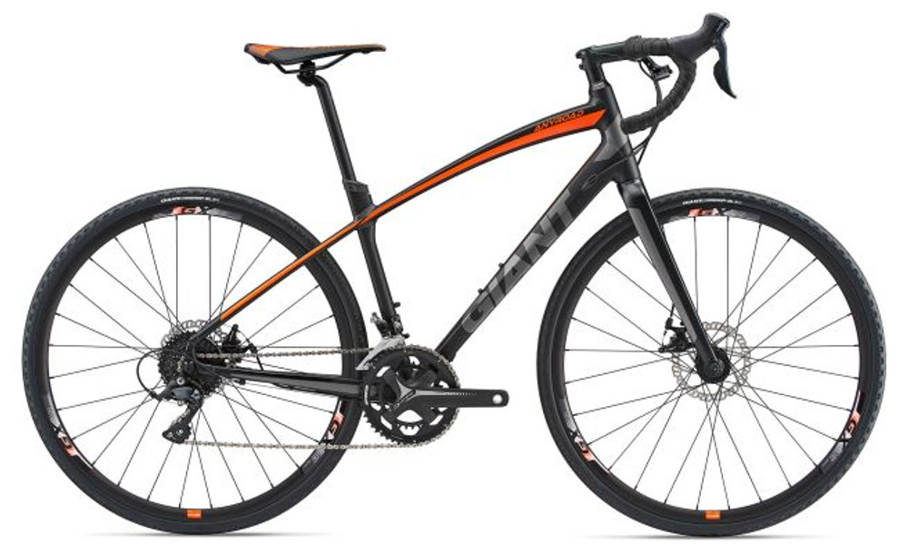 AnyRoad 2 L Matte Black/Neon Orange/Grey