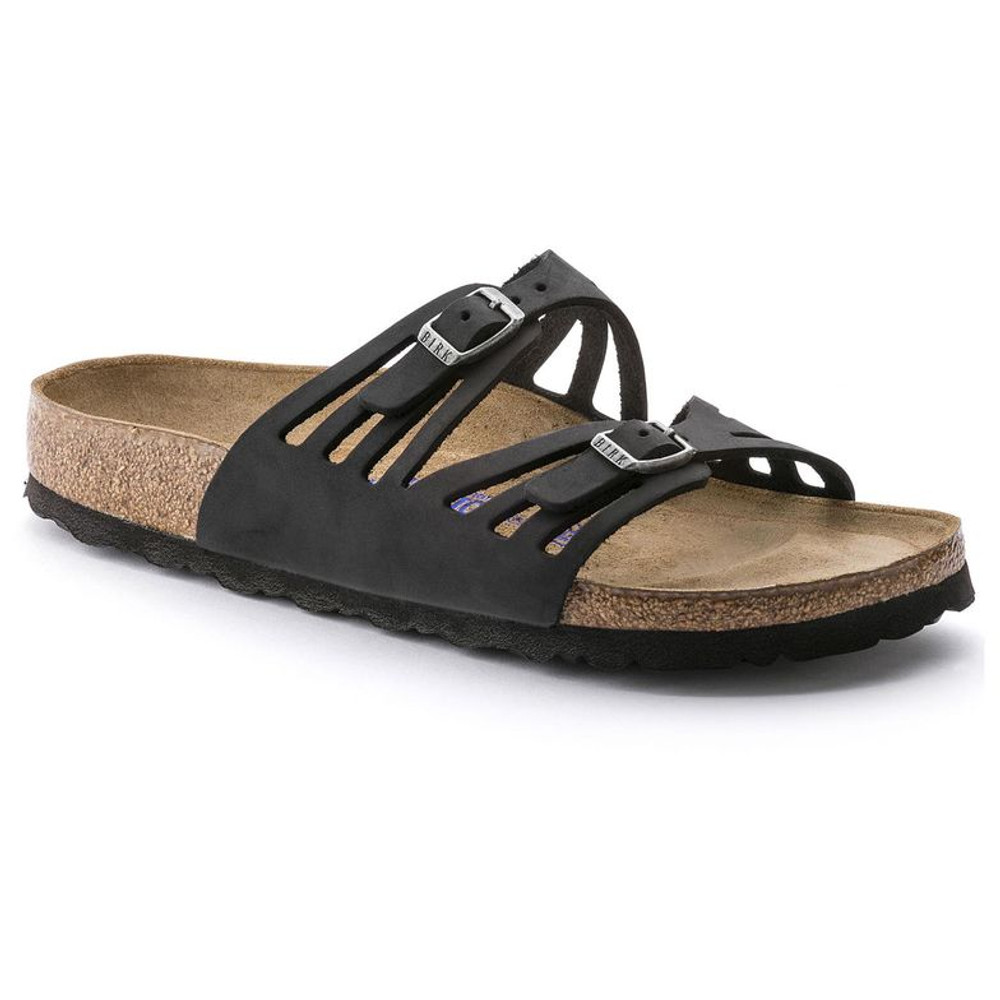 GRANADA SOFT FOOTBED OILED LEATHER BLACK Narrow