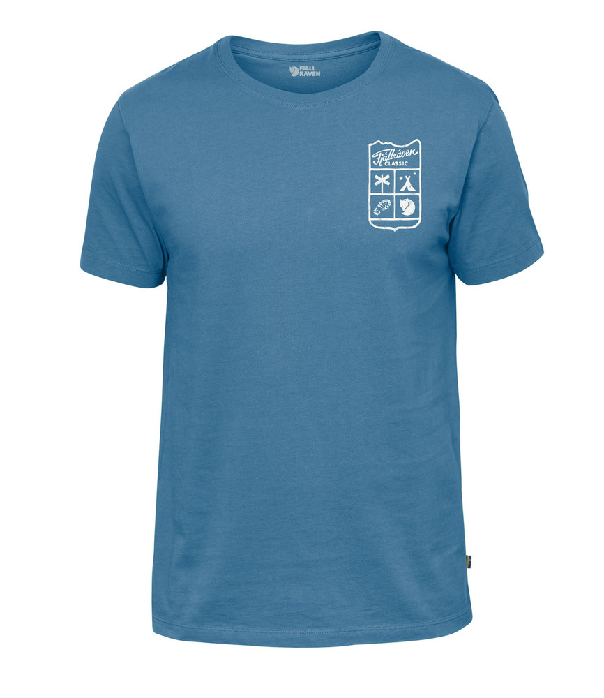 Fjallraven Classic T-Shirt / Small Classic Badge T-Shirt Azure Blue