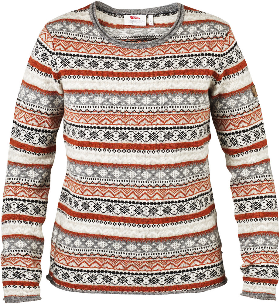 Ovik Folk Knit Sweater W Fog