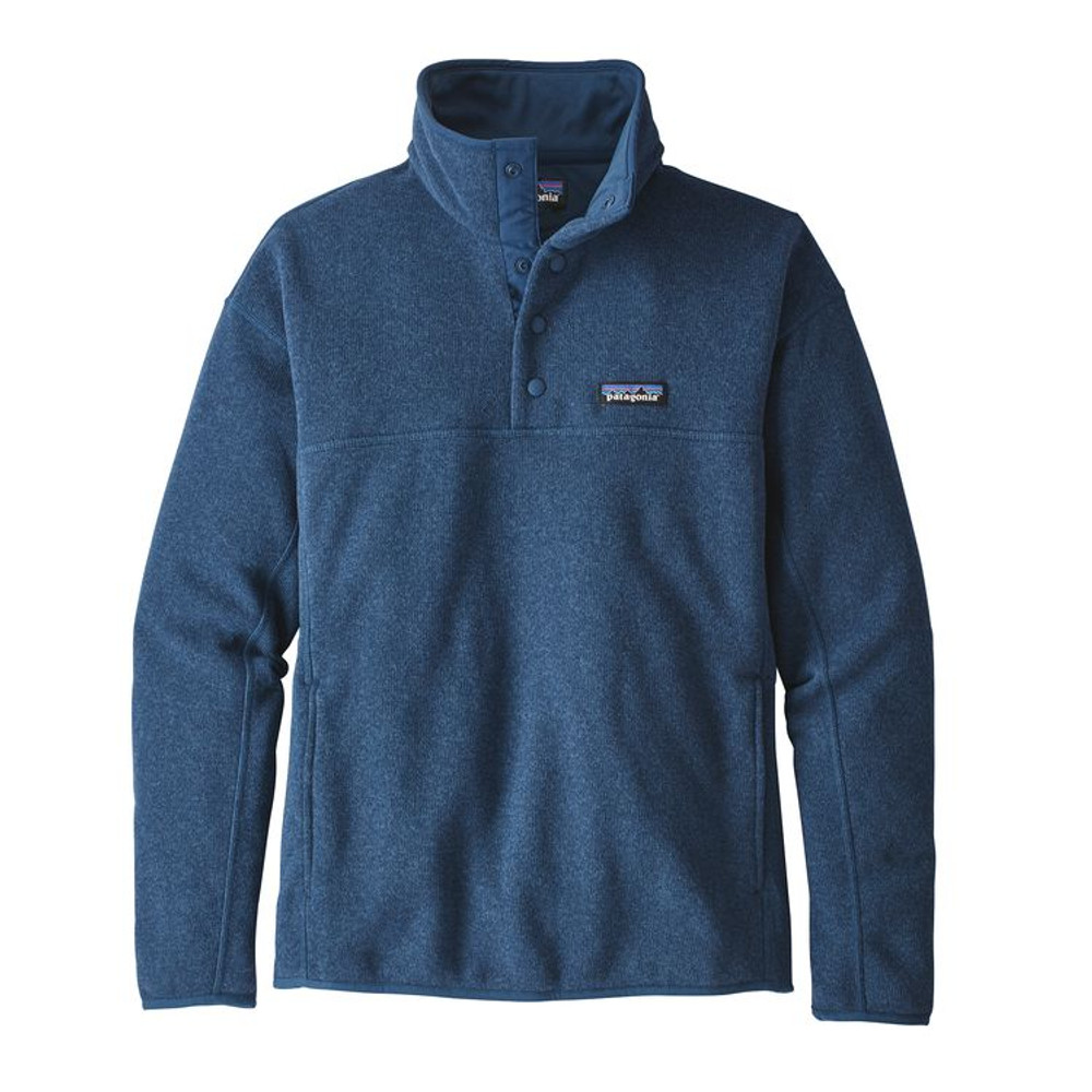 W's LW Better Sweater Marsupial P/O Stone Blue
