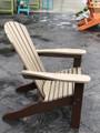 Adirondack Chair Weatherwood on Chocolate Brown