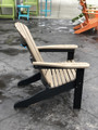 Adirondack Chair Weatherwood on Black