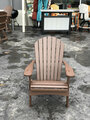 Folding Adirondack Chair Chocolate Brown