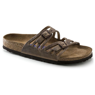GRANADA SOFT FOOTBED NARROW OILED LEATHER TOBACCO