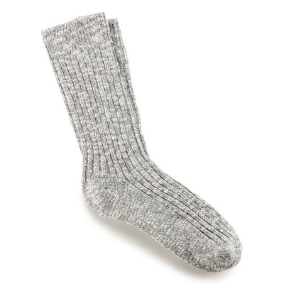 SOCK W SLUB GRAY CT 36-38