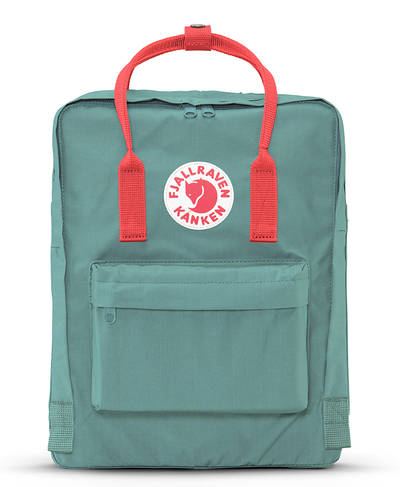 Kanken Mini Frost Green-Peach Pink