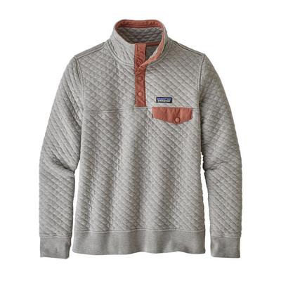 W's Organic Cotton Quilt Snap-T P/O Drifter Grey