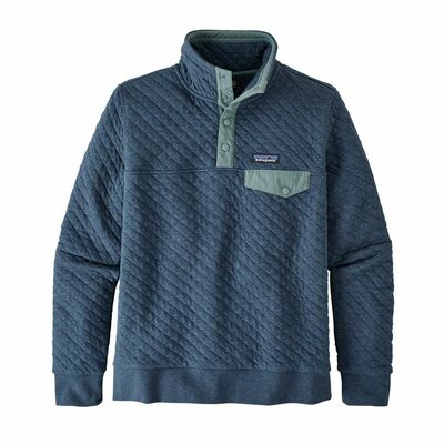 W's Organic Cotton Quilt Snap-T P/O Stone Blue